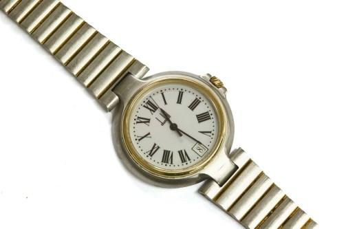 Lot 19-A gentleman's mid size bi-colour Dunhill quartz bracelet watch