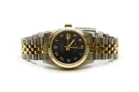 Lot 53 - A gentleman's bi-colour mid size Rolex Oyster Perpetual Datejust bracelet watch Circa 1991
