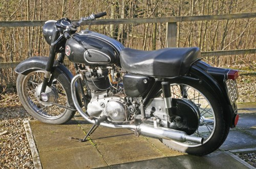 Lot 1-A 1958 Ariel Huntmaster 650 Twin motorcycle