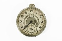 Lot 1A-A rolled white gold Illinois masonic pocket watch