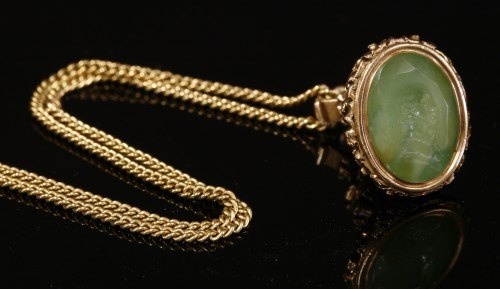 Lot 14-A gold hardstone seal