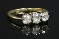 Lot 94 - A three stone diamond ring