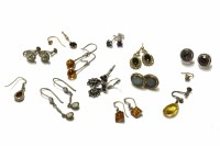 Lot 34-A collection of earrings to include