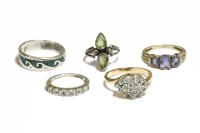 Lot 4-Five assorted rings
