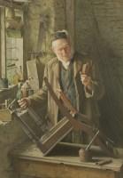 Lot 736-*Charles Spencelayh (1865-1958) 'THE BROKEN LEG' Signed l.l.