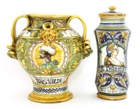 Lot 198 - Two 17th century-style drug jars