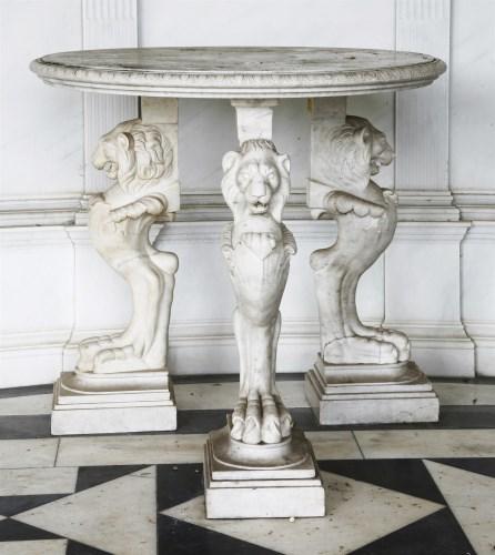 544 - An Italian marble table