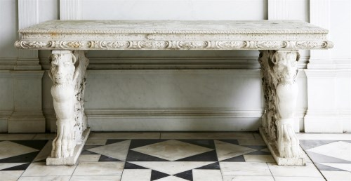 543 - An Italian rectangular Istrian marble table