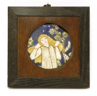 Lot 21-A Morris & Co. tile fragment depicting Thisbe