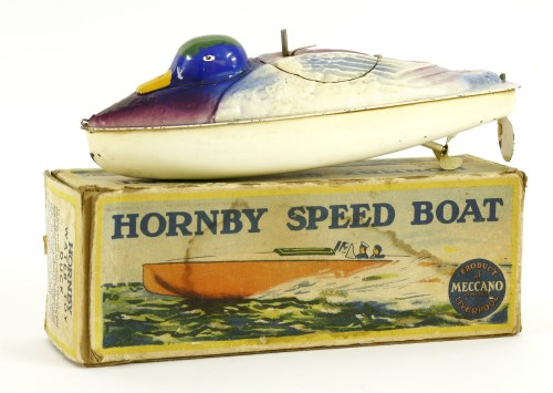 Lot 340-A Hornby tin plate and clockwork water toy duck