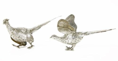 Lot 136 - A pair of silver pheasants