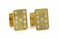 Lot 38-A pair of gold cufflinks