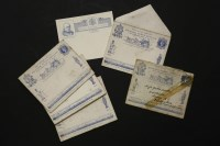 Lot 92 - Four unused 1890 Jubilee uniform penny postage envelope and card