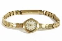 Lot 18-A ladies 9ct gold Vertex mechanical bracelet watch