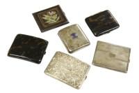 Lot 53 - Six assorted cigarette cases