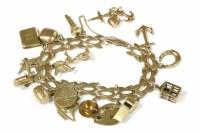 Lot 8-A gold fancy link bracelet