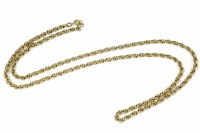 Lot 33-A 9ct gold Prince of Wales chain necklace
