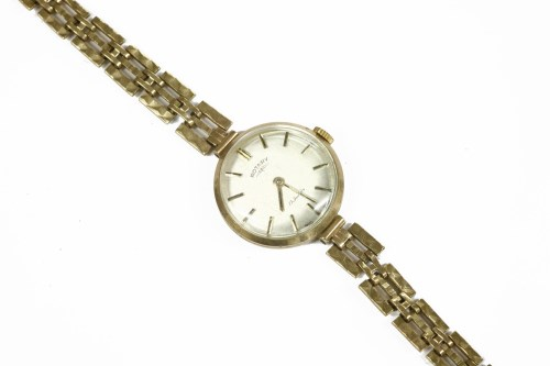 Lot 10-A ladies gold Rotary mechanical bracelet watch