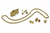 Lot 31-A 9ct gold rope link necklace