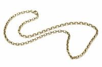 Lot 12-A 9ct gold belcher link necklace