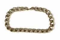 Lot 36-A 9ct gold  joining loop curb link bracelet