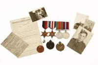 Lot 91 - A group of WWII medals