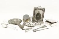 Lot 90 - Silver items: mirror
