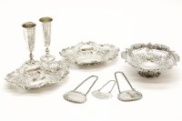 Lot 73 - Three pierced silver baskets
