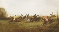Lot 25-Philip Rideout (1850-1920) STEEPLECHASE Signed and dated 1872 l.l.