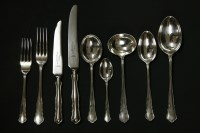 Lot 80 - Six settings silver cutlery including knives