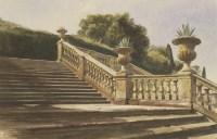 Lot 718-Thomas Hartley Cromek (1809-1873) AN ITALIAN GARDEN Signed l.l.