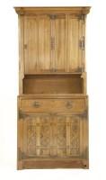 Lot 14-A Continental Arts & Crafts oak bookcase