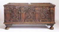Lot 367-A walnut cassone