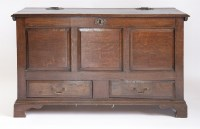 Lot 370-An oak mule chest