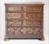Lot 371-A Charles ll oak chest of drawers
