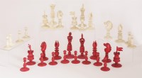 Lot 360-An ivory chess set