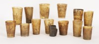 Lot 364-Thirteen horn tumblers