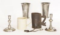 Lot 366-Two pewter tankards