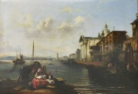 Lot 335-Circle of Edward Pritchett (1808-1876) A VENETIAN SCENE Inscribed 'Venice' l.l.