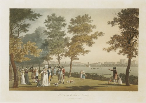 Lot 349-James Malton (1761-1803) ST STEPHEN'S GREEN