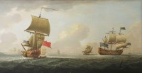 Lot 373-Attributed to Peter Monamy (1681-1749) SHIPPING OFF ST HELIER