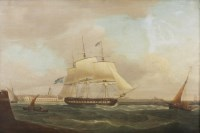 Lot 374-Thomas Whitcombe (1763-1824) HM FRIGATE 'FLORA'