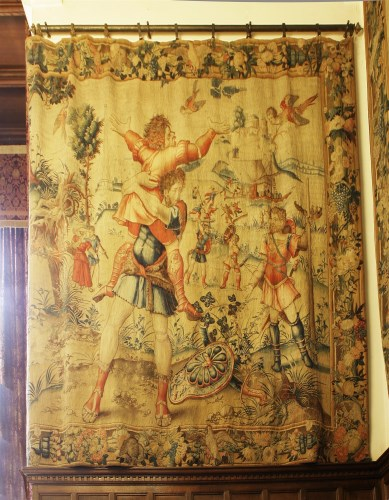Lot 300-Lots 300 to 304 AN IMPORTANT PART SET OF FIVE BRUSSELS TAPESTRIES FROM 'THE LABOURS OF HERCULES' SERIES  A Brussels mythological tapestry