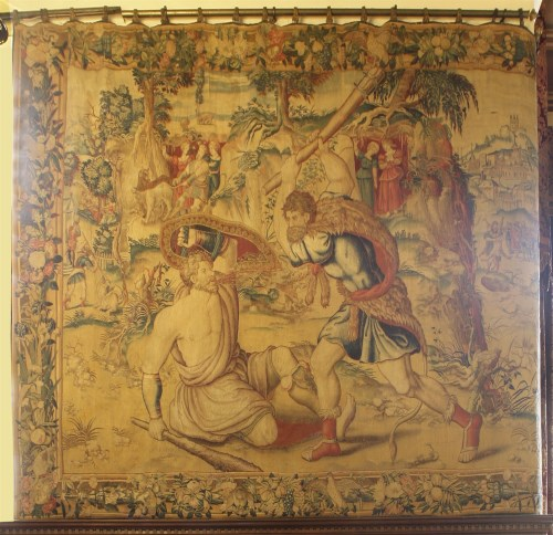 Lot 301 - A Brussels mythological tapestry