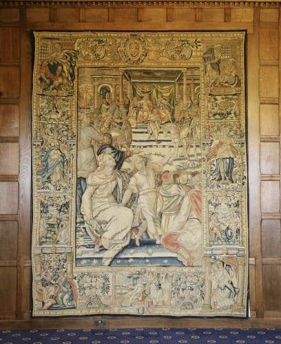 Lot 305-Lots 305 to 310 THE STORY OF JULIUS CAESAR AND CLEOPATRA  A set of six (part of eight) Brussels historical tapestries