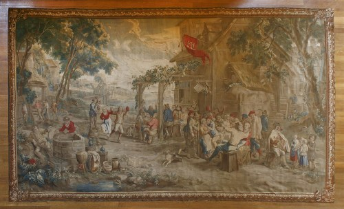 Lot 317-A Brussels Teniers tapestry