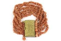 Lot 44-A Regency six strand coral bead bracelet