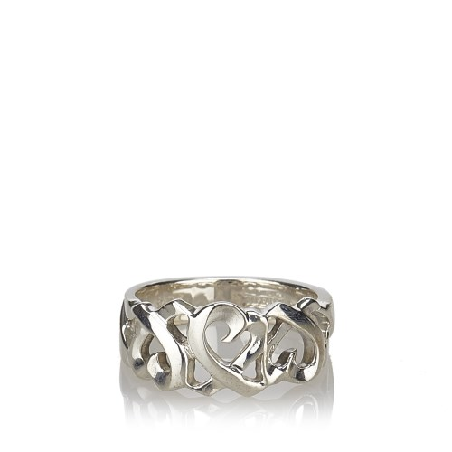 Lot 7-A sterling silver Tiffany Loving Heart ring