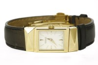 Lot 50-A ladies gold plated Versace quartz strap watch