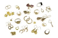 Lot 23-A collection of gold items